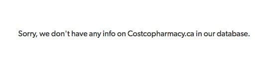 Costcopharmacy.ca Review