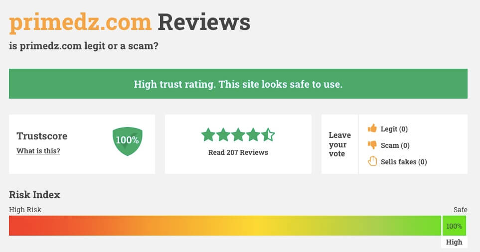 Primedz.com Review on Scamadviser