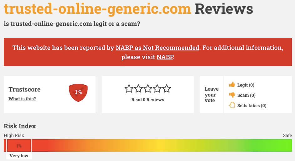 Trusted-Online-Generic.com Review